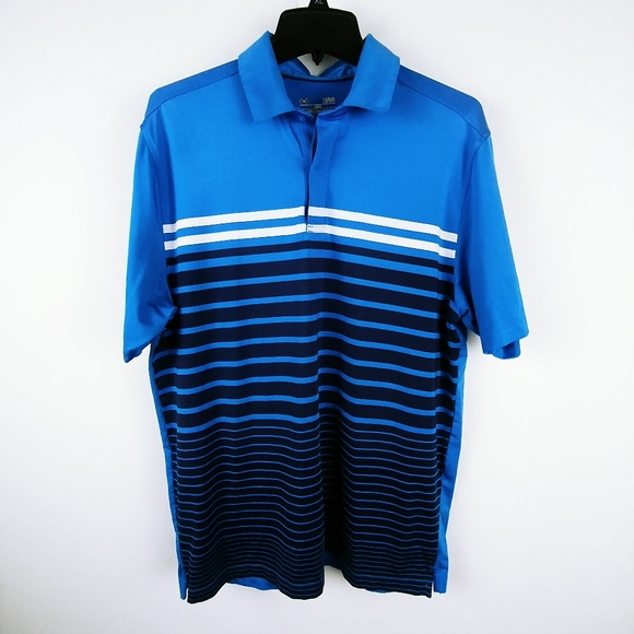 Clothing, Shoes & Accessories Mens Under Armour Polo Shirt Heat Gear Large Blue Loose Fit Short Sleeve Moderate Cost